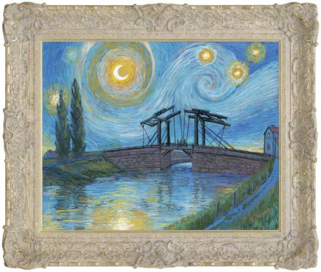 Starry Night With Drawbridge at Arles by John Myatt