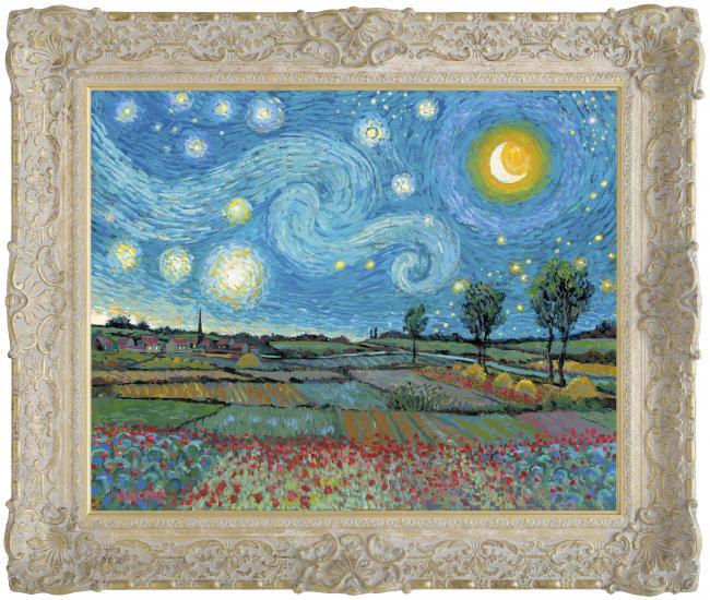 Starry Night With New Day Dawning by John Myatt