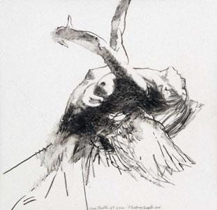 Study For Floating Angel 10 by Robert Heindel