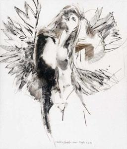 Study For Floating Angel 11 by Robert Heindel