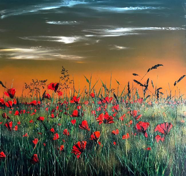 Poppies & Grasses by Kimberley Harris