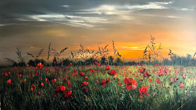 Sunset On The Downs by Kimberley Harris