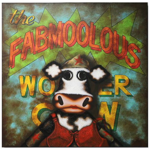 The Fabmoolous Wonder Cow - Aluminiumby Caroline Shotton