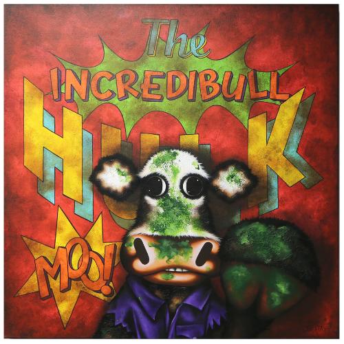 The Incredibull Hulk - Aluminiumby Caroline Shotton