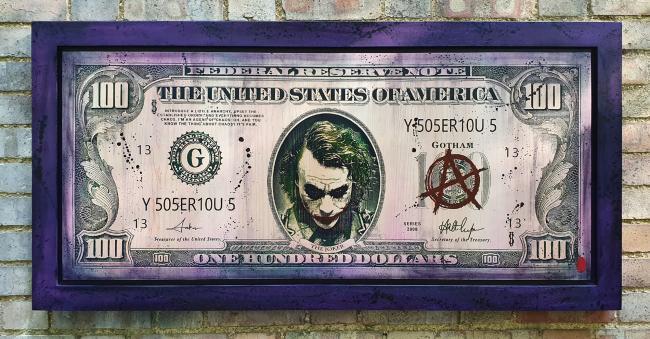 The Joker $100 Bill by Rob Bishop