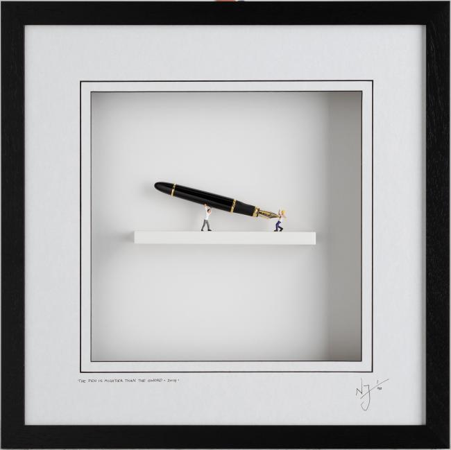 The Pen Is Mightier Than The Sword by Nic Joly