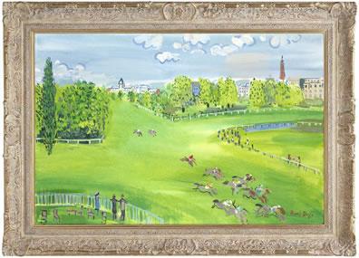 The Racecourse At Longchamps (Raoul Dufy) by John Myatt