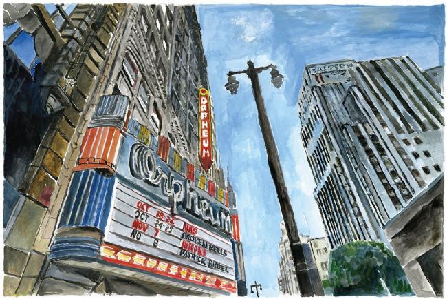 Theater Downtown LA by Bob Dylan