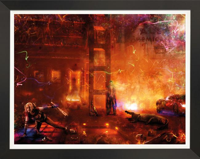 Toxicity (Suicide Squad) - Embellished Canvasby Mark Davies