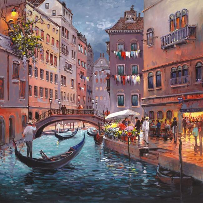 Venice By Night by Henderson Cisz