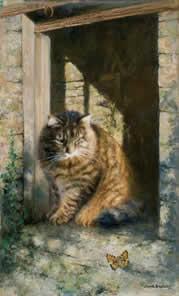 Whisky The Farmyard Cat by David Shepherd