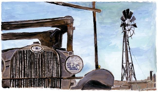 Wilton Iowa Farmyard by Bob Dylan