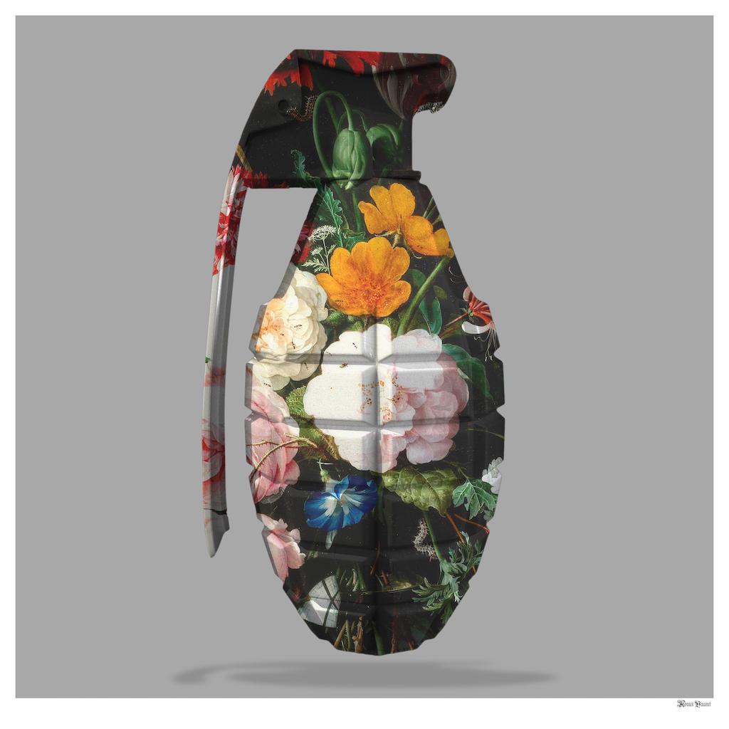 Floral Grenade - Large by Monica Vincent