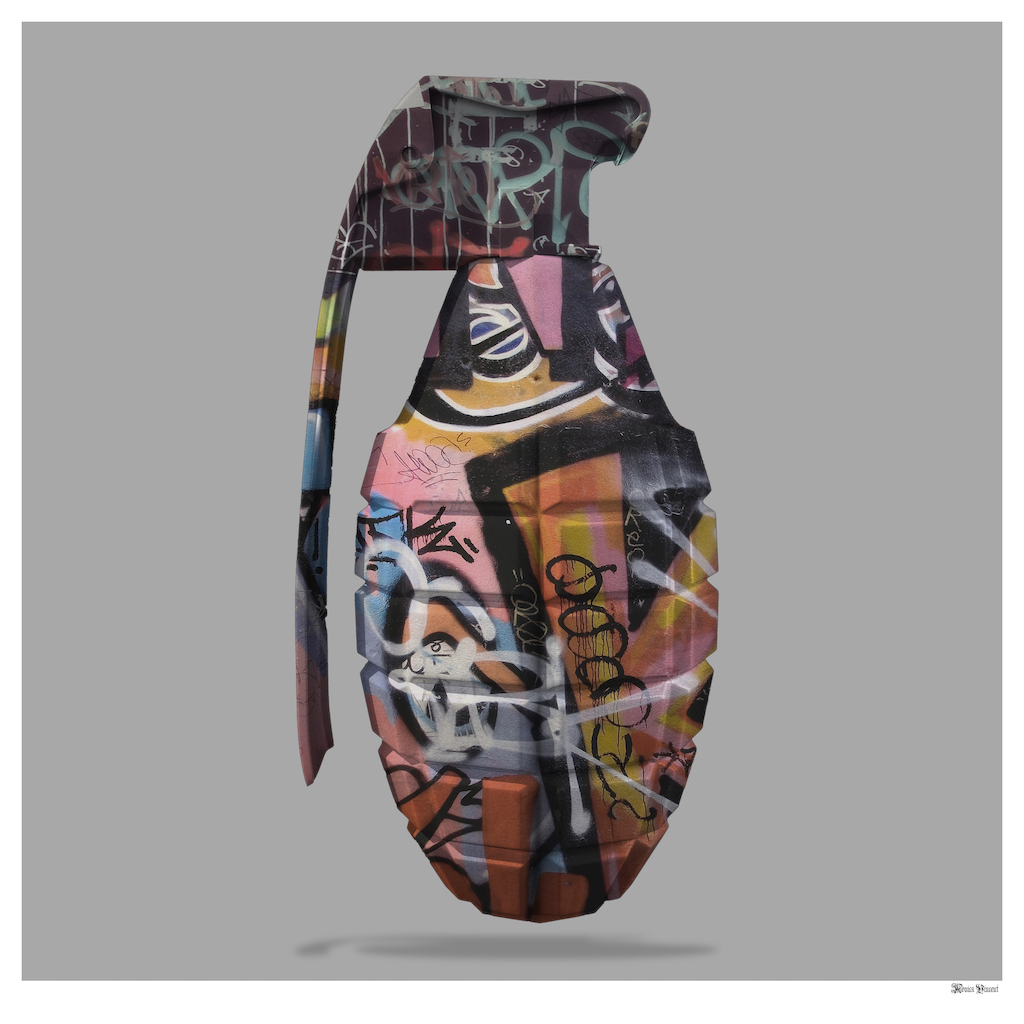 Graffiti Grenade - Large by Monica Vincent
