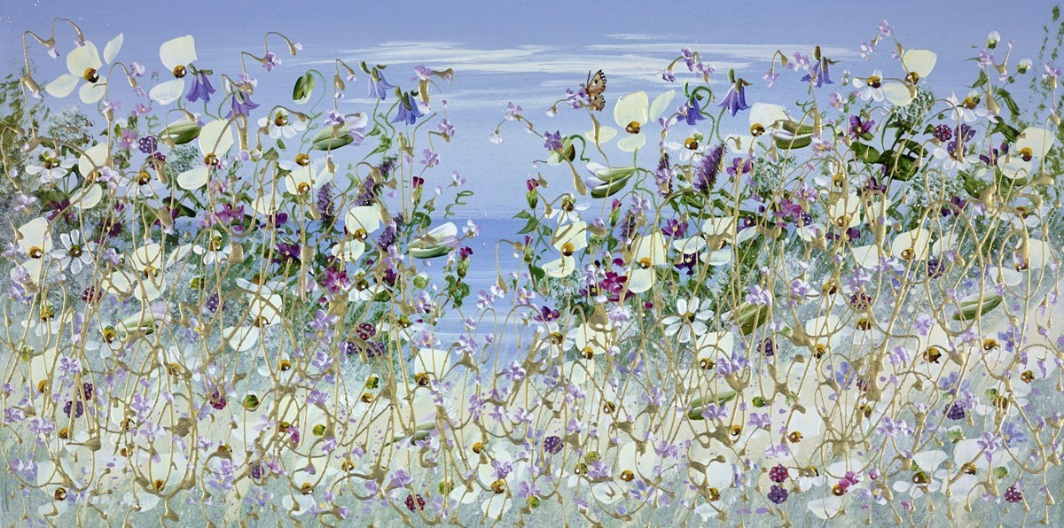 Butterfly Among The Flowers II by Mary Shaw