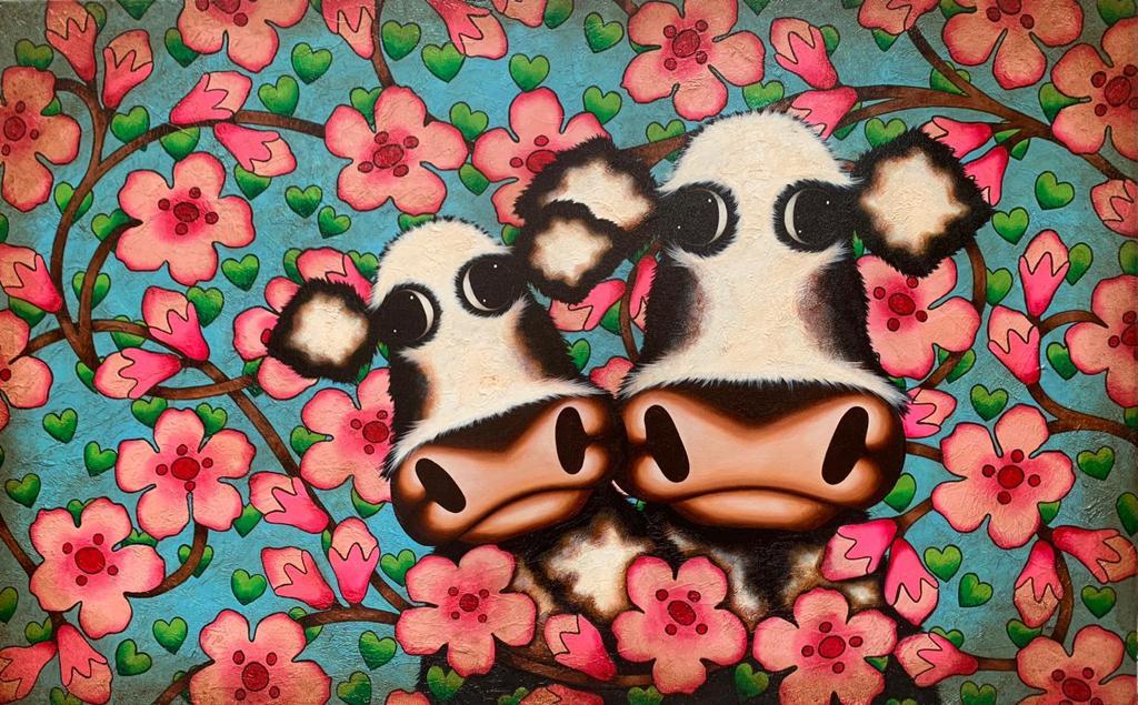 Cherry Blossom Road by Caroline Shotton