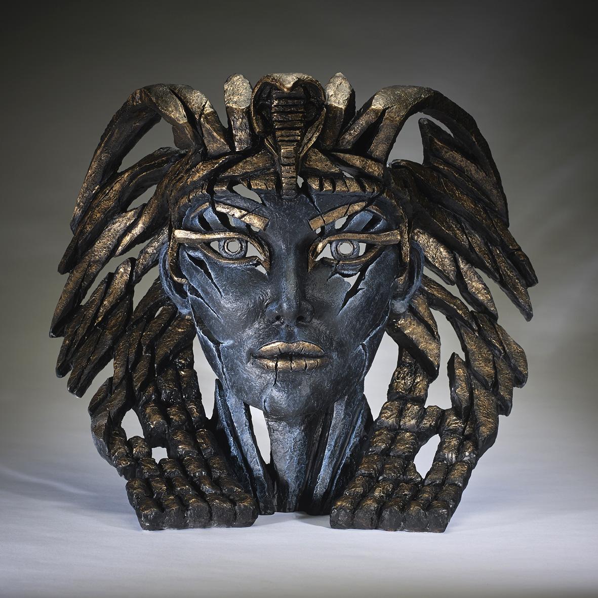 Cleopatra Bust - Blue by Edge Sculptures by Matt Buckley