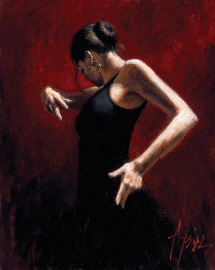 El Baile De Flamenco in Rojo I by Fabian Perez