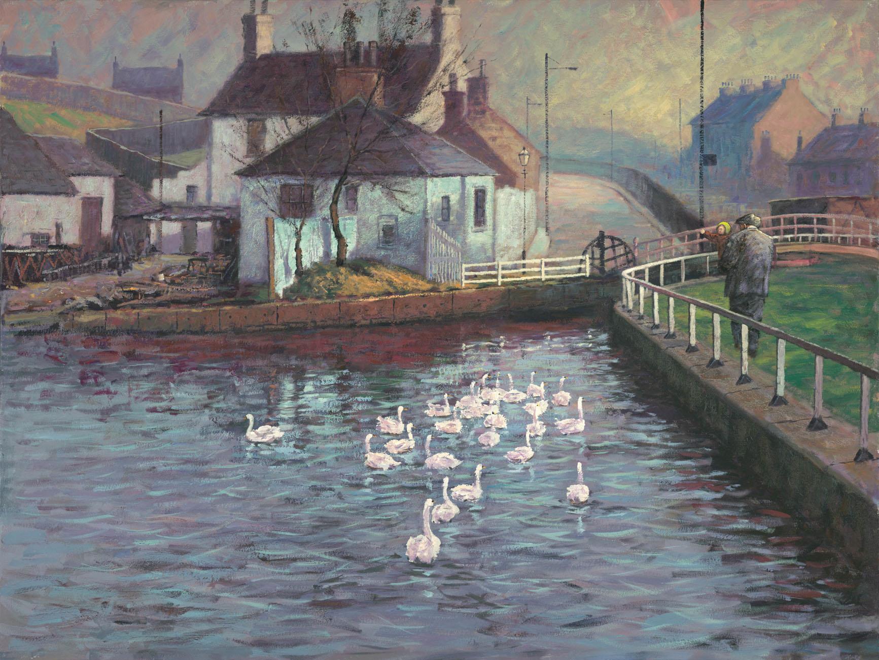 Feeding The Birds by Alexander Millar