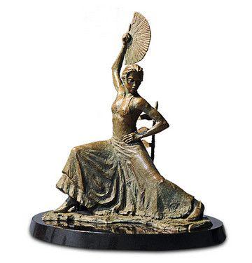 Flamenco Dancer with Fan - Bronze by Fabian Perez