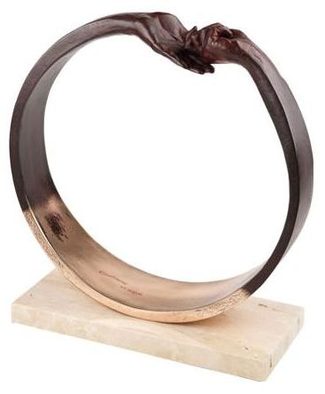 Give & Take III (Bronze Plated Resin) by Lorenzo Quinn