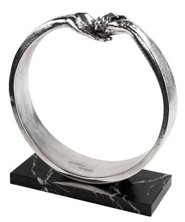Give & Take III (Silver Plated Resin) by Lorenzo Quinn