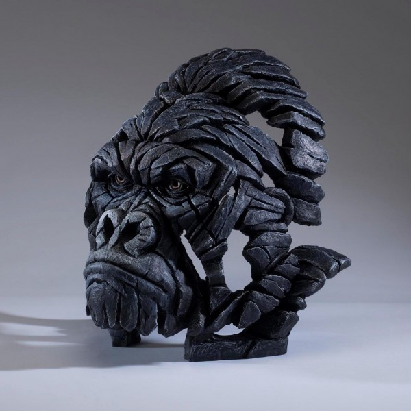 Gorilla Bust by Edge Sculptures by Matt Buckley