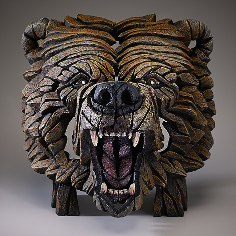 Grizzly Bear Bust by Edge Sculptures by Matt Buckley