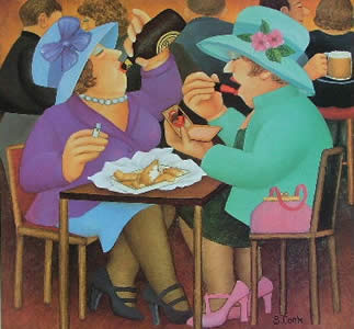 Ladies Who Lunch by Beryl Cook