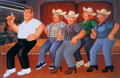 Line Dancing by Beryl Cook