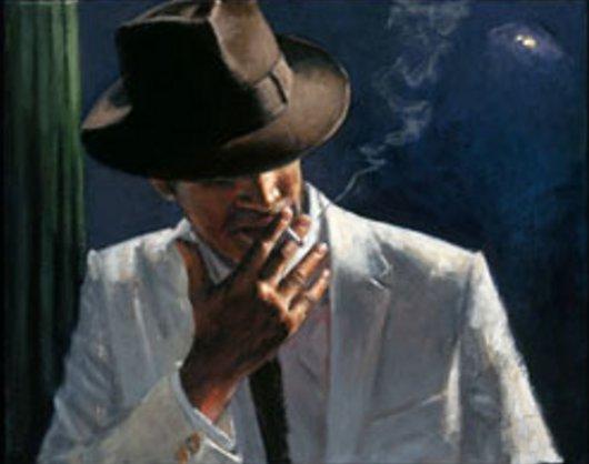 Man in White Suit II by Fabian Perez