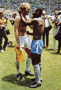 Pele & Moore (Bobby Moore) by Pele