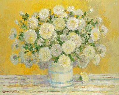 Still Life Flowers - Yellow by John Myatt