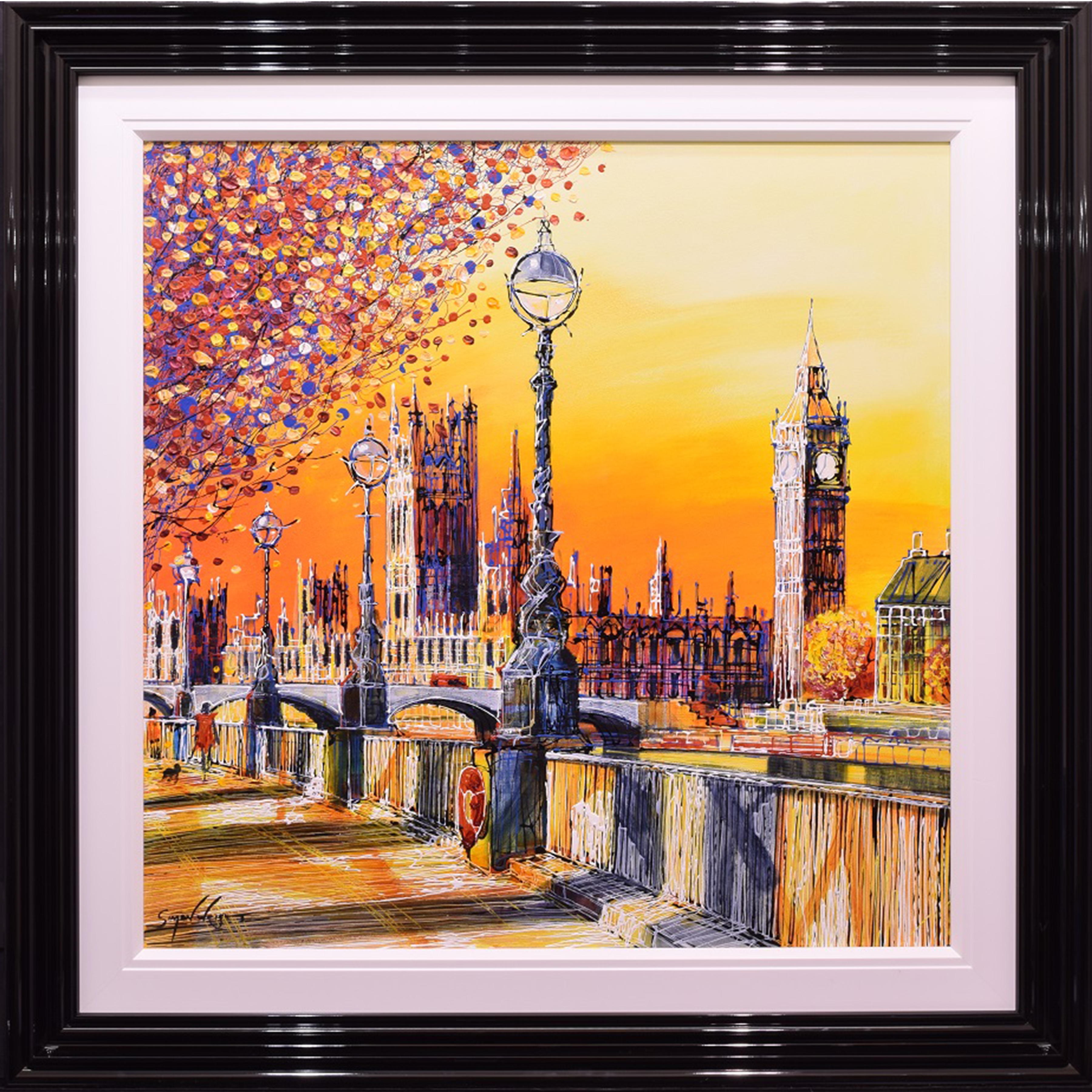 Sunset Embankment by Simon Wright