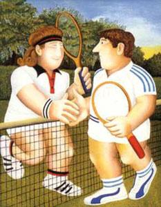 Tennis by Beryl Cook