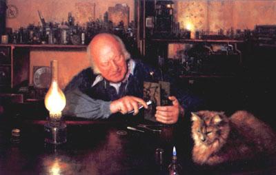 The Clockmenders Cat by David Shepherd