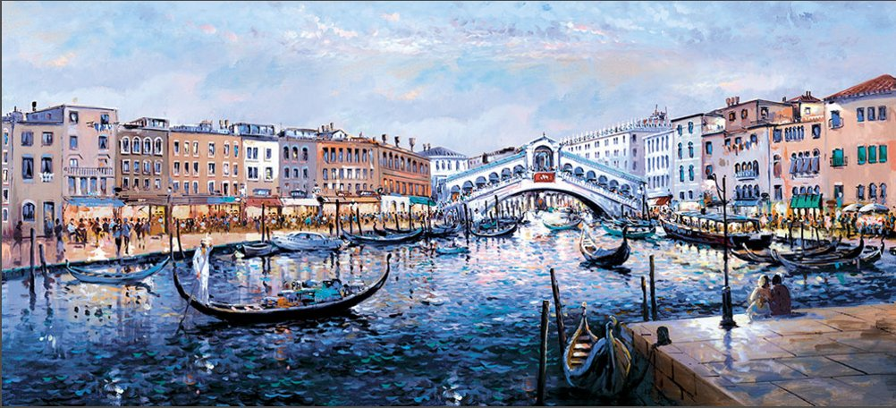 Twilight Ponte Di Rialto by Henderson Cisz