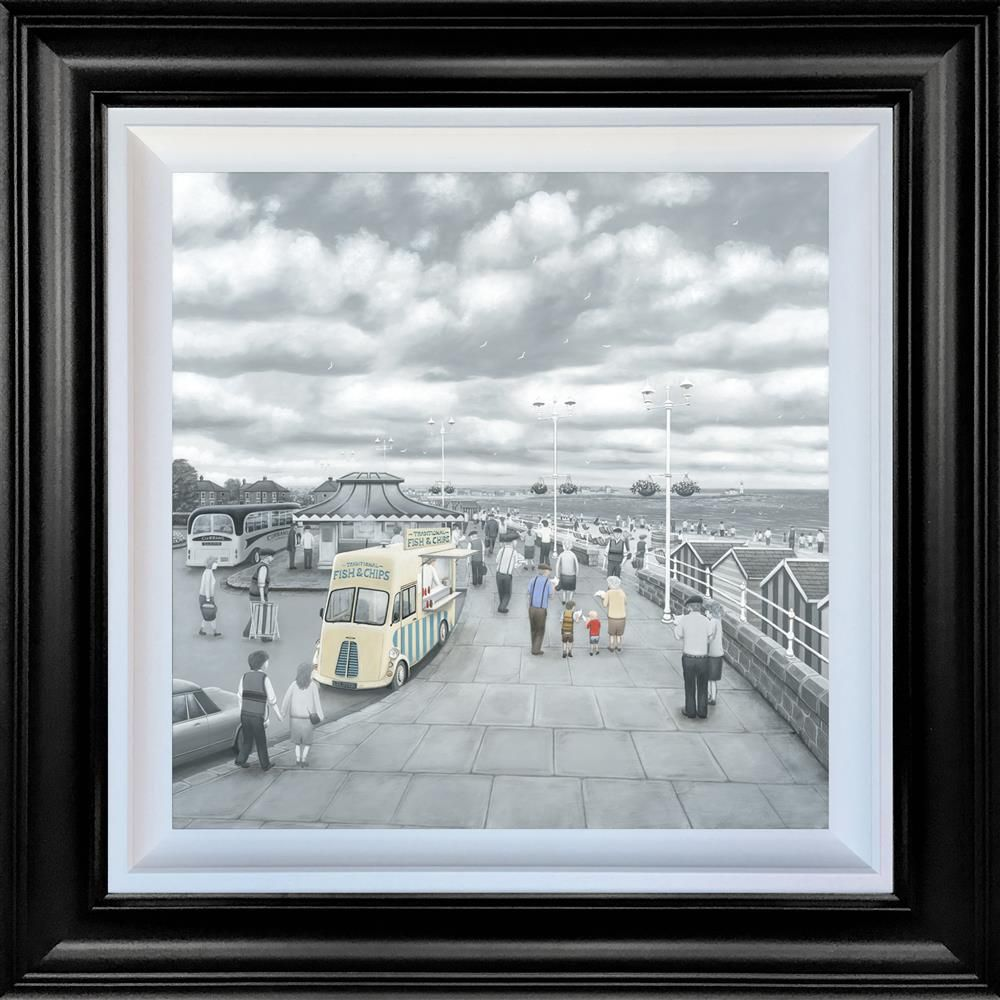 What Do You Like Best, Grandad or Chips - Canvas Deluxe by Leigh Lambert