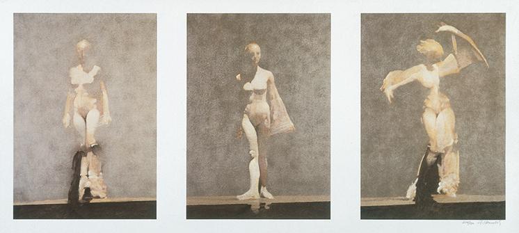 White Dancers Triptych by Robert Heindel